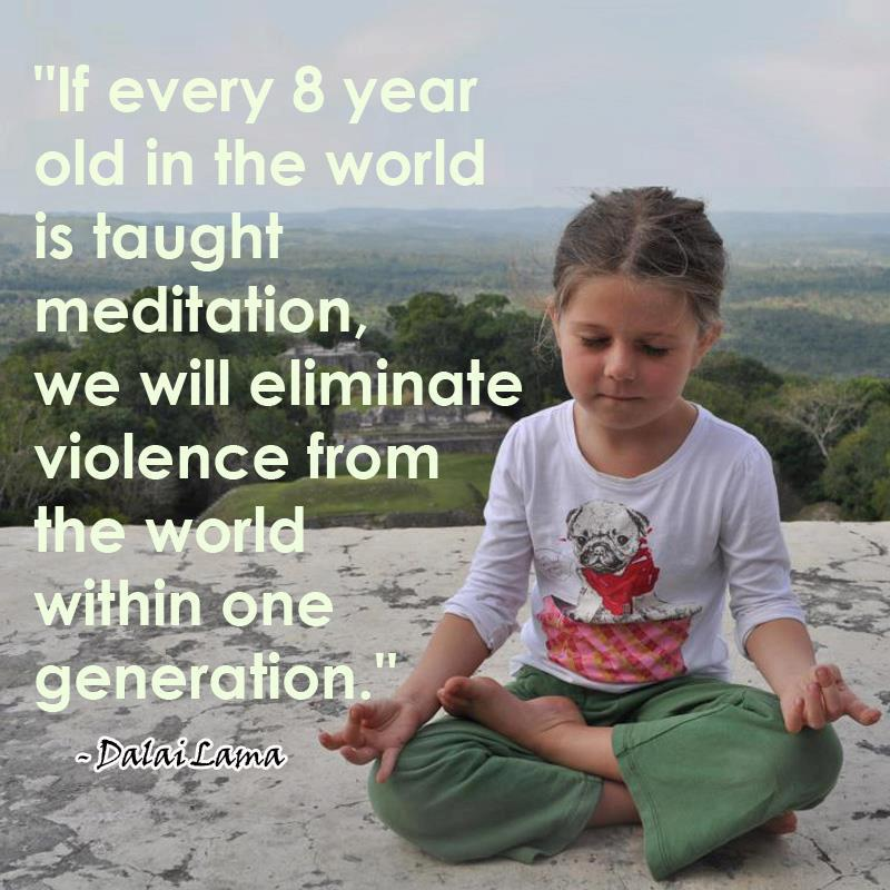 8 year old meditating
