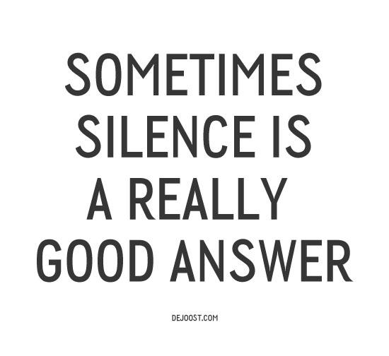 silence_good_anwer